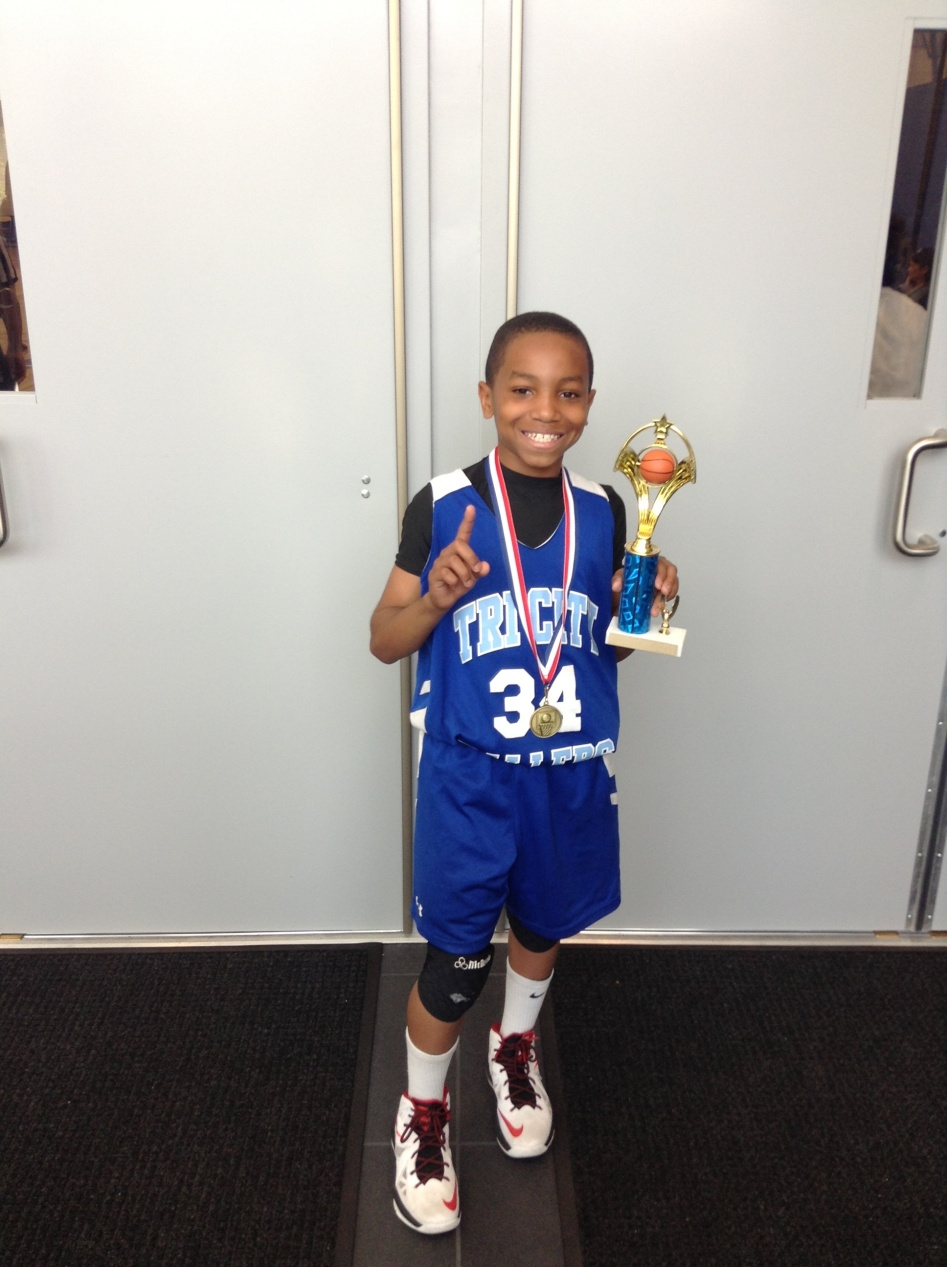 4th Grade/10u - Tournament MVP -  Domoinique Daniels/Tri-City