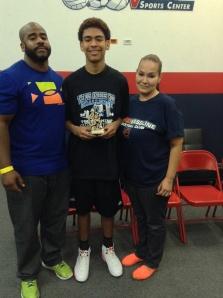 14u/8th Grade  Elite Division MVP Krystian Wilson Prodigy