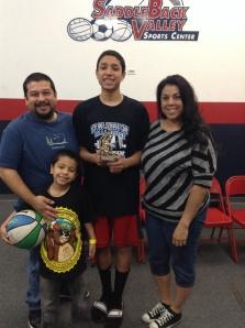 13u/7th Grade Gold Division MVP  Jessie Robledo Whittier Hawks